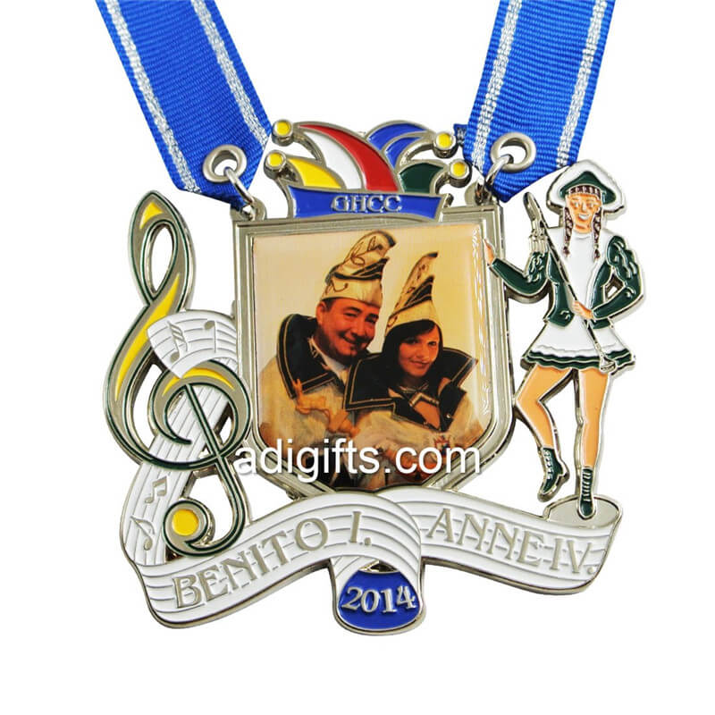 carnavel medal with printing sticker